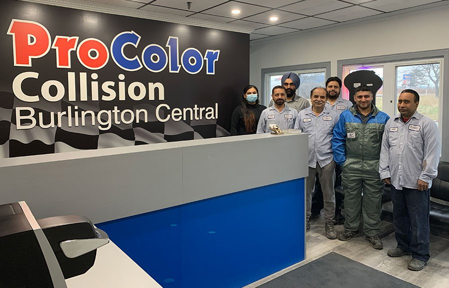 ProColor Collision Burlington Central is a fully equipped facility that can handle advanced collision repair on all makes and models.