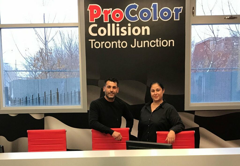 Through ProColor Toronto Junction, Paul Pires and his wife Iria look forward to offering advanced collision repair services to their clientele.