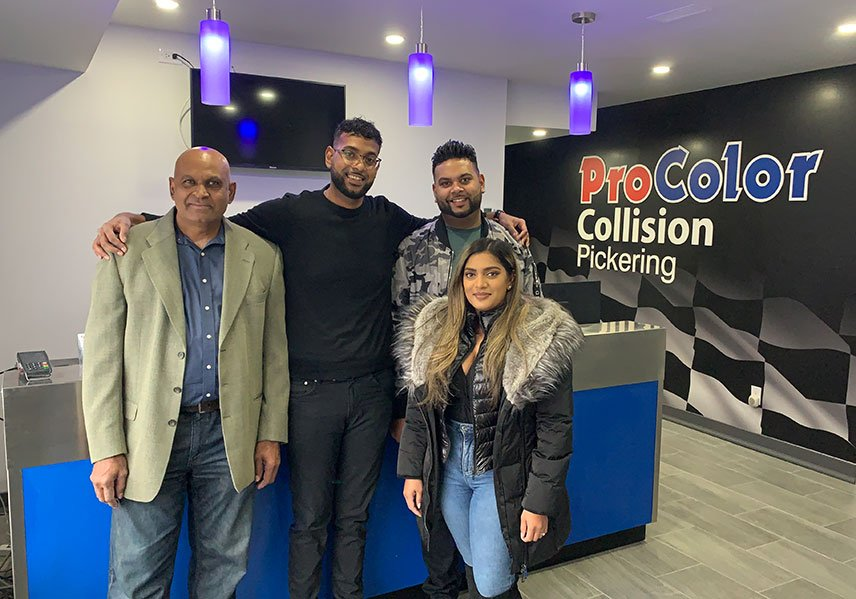 ProColor Pickering reflects Surais Samlal's keenness to transform his family-owned automotive business into an advanced repair facility.